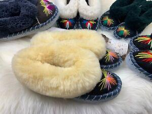 Genuine Women Sheepskin Slippers Moccasin US 5, 6, 7, 8, 9,