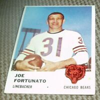 1961 Fleer Football Card # 8 Joe Fortunato- Chicago Bears