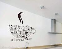 KÜCHEN DEKO XXL Wandtattoo KAFFEE TASSE KUNST Coffee DISIGN im SET NEU