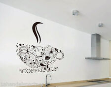 decoración de la cocina XXL Wandtattoo Taza café ARTE diseño en juego NUEVO