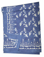 Cotton Block Printed King Queen  Bedspreads Tapestry Bedding Sheets12