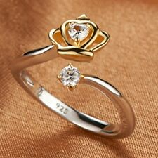 queen princess gold wedding ADJUSTABLE OPEN BAND THUMB RINGS Love cuff brides