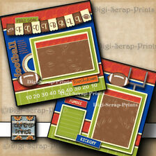 New ListingFootball ~ Boy 2 Premade Scrapbook Pages paper printed layout Digiscrap #A0282