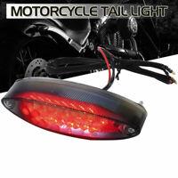 Motorcycle ATV Bike Tail Brake Light 28 LED Number License Plate Rear Stop Lamp