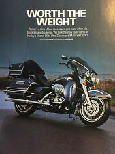 HARLEY DAVIDSON ELECTRA GLIDE ULTRA vs BMW R1200CL - 8 PAGE MOTORCYCLE ROAD TEST