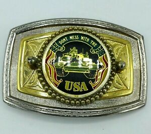 """Vintage Belt Buckle **Don't Mess With The USA*"""" Tank"""