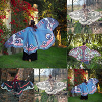 Women's Soft Long Butterfly Wing Cape Scarf Large Wrap Shawl Scarves Chiffon /