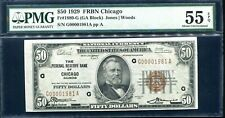 $50 1929 FRBN Chicago Fr#1880-G PMG 55 About UNC EPQ *Low SN# 1981*