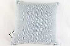 "Bloomingdale's Bedding 1872 Pearls 16"" Square Decorative Pillow Blue Z398"