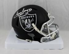 Howie Long Autographed Oakland Raiders Blaze Mini Helmet- JSA W Auth *Silver