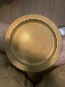 """Antique Tiffany & Co. Dore Bronze 8"""" Plate / Tray 21807B-14551"""