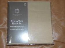 MICROFIBER SHEET SET - TWIN - TAN   ***RETAILS $30.00***   (BD-13x6)