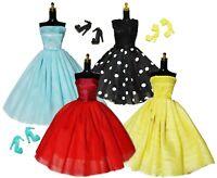 Barbie Doll Clothes Lot Dress & Shoes Set Vintage Style Princess 1960's Fashion