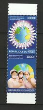 NIGER 2020 FIGHT AGAINST VIRUS & INT'L YEAR OF MIDWIVES SE-TENANT 2 STAMPS MINT