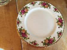4 ROYAL ALBERT OLD COUNTRY ROSES DINNER PLATES 1962 ENGLAND