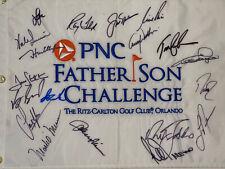 PNC CHALLENGE SIGNED GOLF FLAG - Jack Nicklaus, Lee Trevino, Nick Faldo, etc.
