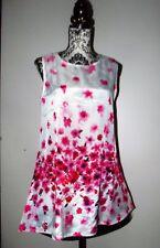 TUNIQUE MINI ROBE  DRESS  ROSES POP LIGHT T 42/44
