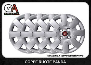 Copricerchi Fiat Panda 13 coppe ruote 4 pezzi Borchie Panda dal 2010