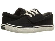 SPERRY SP Ollie Jr Black Canvas Boat Shoes H&L NIB* Preschool Sz 11.5M EUR 28.5