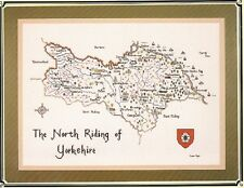 The North Riding of Yorkshire - Heritage Stitchcraft Chart New