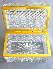 French Style CrystalTrinket rectangular - hinged Box Great Condition (#781)