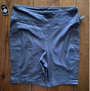 NEW RELEASE Lularoe Rise Driven Biker Short Pockets 1X 1XL Solid Gray Nwt