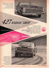 1966 FORD FAIRLANE 427 WEDGE ~ ORIGINAL 5-PAGE ROAD TEST / ARTICLE / AD