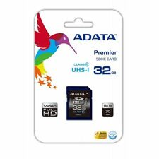 ADATA Premier 32GB High Capacity SD Card UHS-I Class 10 R/W 50/10 MB/s