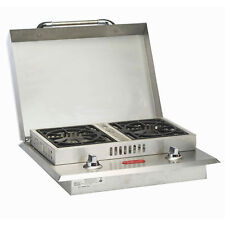 Bull Outdoor Products Stainless Steel Double Side Burner, Natural Gas