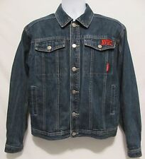Avirex AVRX USA Boys SZ 16/18 Denim Jean Jacket Dark Wash Button Front Large L