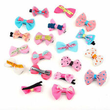 Wholesale 20X Lot Toddler Girl Baby Hair Clip Ribbon Bow Satin Bowknot Head wear