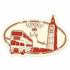 "London England travel car bumper window suitcase sticker 5"" x 3"""