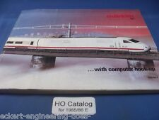 EE 1985/86 D Marklin Märklin HO Catalog Catalogue 1985 1986 D Excellent Digital