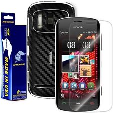 ArmorSuit MilitaryShield Nokia 808 PureView Screen Protector + Black Carbon Skin