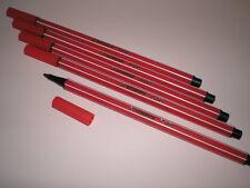 5x Stabilo PEN 68 dunkelrot Fasermaler Strichstärke 1,0 mm 68/50 NEU