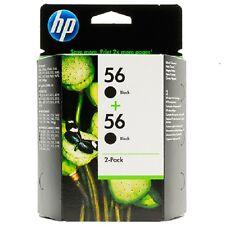 HP Original 56 2 Pack Black Ink Cartridges C9502AE Deskjet 5550 5552 5850C 5150