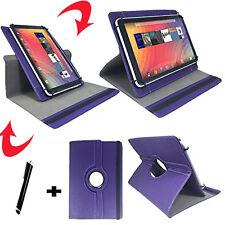 7 zoll Tablet Tasche - Xoro TelePAD 7A3 10A3 Umts  Etui - 360° Lila 7