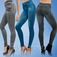Damen Skinny Jeggings Tregging Pants Leggings Jeans Trousers Hose Stretch Slim