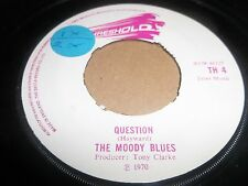 """THE MOODY BLUES """" QUESTION / CANDLE OF LIFE """" 7"""" SINGLE VG 1970"""