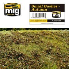 Ammo of Mig A.MIG-8359 Small Busches Autumn - Grass Mat - 230 x 130 mm