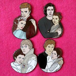 STAR WARS Luke Princess Leia Ben Solo Rey Anakin Padme Reylo Panakin Fantasy pin