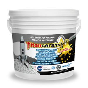 TITANCERAMIX - Additivo Termo-Riflettente Antimuffa Antiodore Sanificante