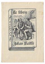 JOAN JUTGLAR: Exlibris für Johan Batlle