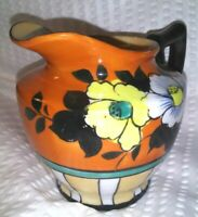 Vintage Japanese Lusterware Creamer small pitcher Floral Pansy Japan