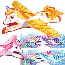 2 X Unicornio volar planeadores Niñas Juguete Regalo Bolsa Fiesta Navidad Stocking Relleno