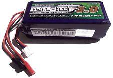 Turnigy Nano-Tech 3000mAh 2s 7.4v 20c 40c LiPo receiver rx pack futaba jr jst
