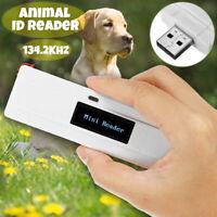 134.2Khz ISO FDX-B Animal Reader Micro Chip Handheld Pet Scanner  LCD Display