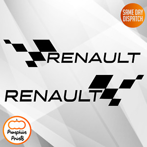 2x large Renault style vinyl stickers decals Clio Megane SPORT CUP 11 Inch
