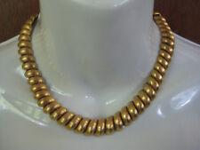 Exceptional Vintage Napier Gold Plate Link Necklace Florentine Finish Flexible