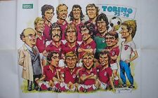 GUERIN SPORTIVO 1975/1976 75/76 POSTER SQUADRA SCUDETTO TORINO CAMPIONE D'ITALIA